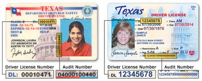 Number Dd Texas License Drivers